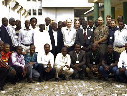 Group photo from The Nigeria ICT Forum NgREN Network Design Workshop hosted by the Obafemi Awolowo University, Ile-Ife