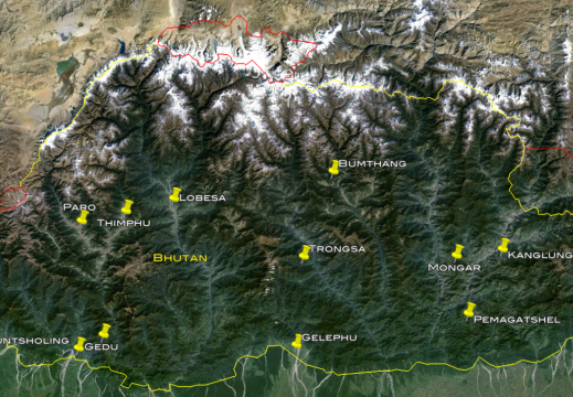 Bhutan-RUB-Locations