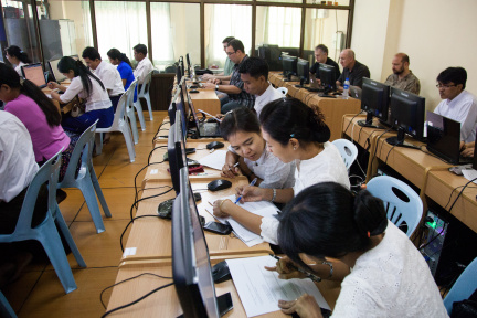 Students at UCSY Myanmar Campus Network Design and Operations Training